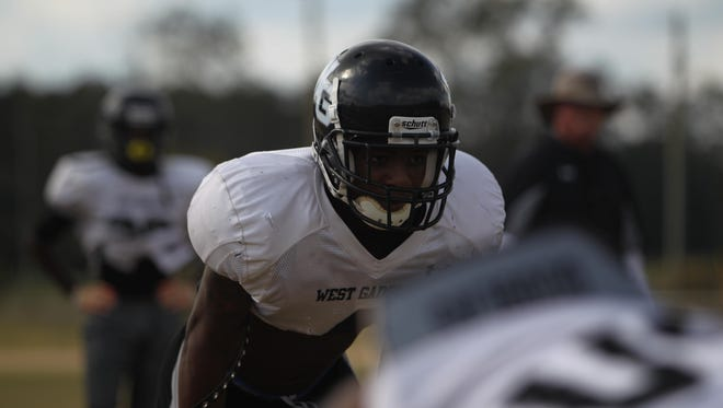 West Gadsden RB Kishion Grandberry could be a big key to the success of the Panthers' playoff hopes.