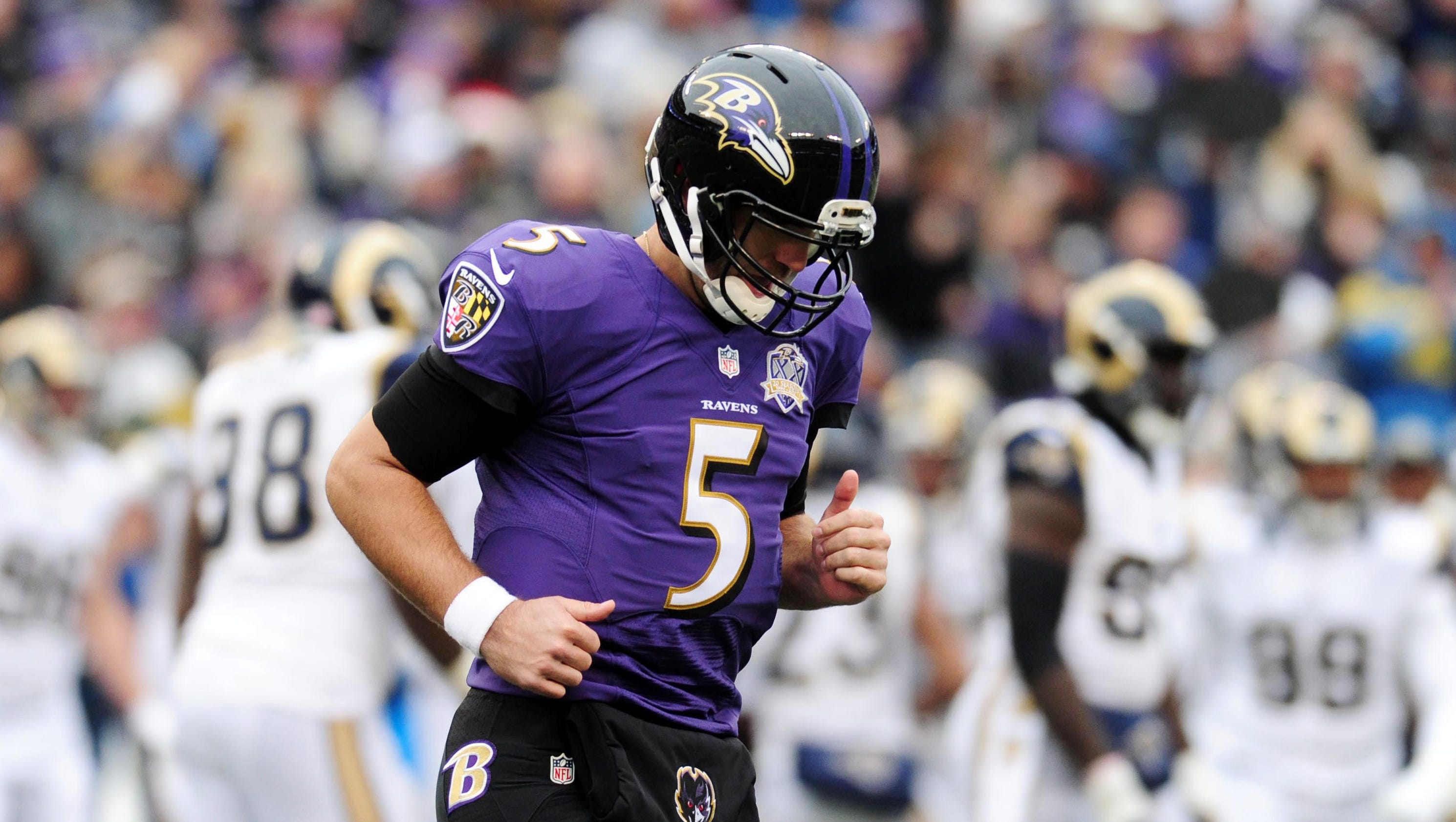 Ravens Qb Joe Flacco Finishes Win On Torn Acl But Out For