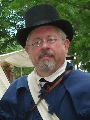 Wayne Thurston, wearing his War of 1812 uniform.