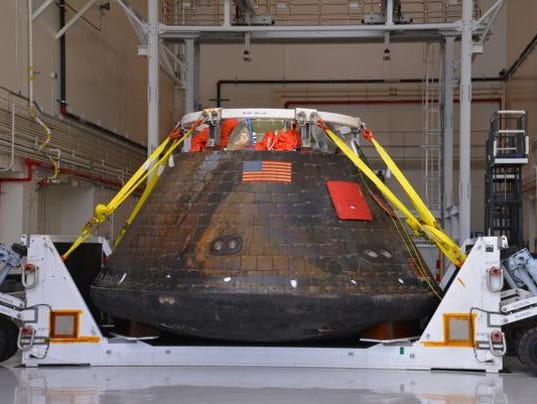 Orion capsule returns home to Kennedy Space Center