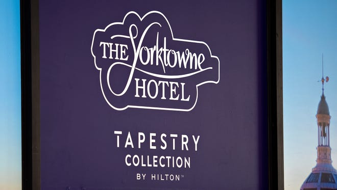 The Yorktowne Hotel will join the Tapestry Collection by Hilton, as announced during a press conference at the historic hotel in York City, Tuesday, May 15, 2018. Dawn J. Sagert photo