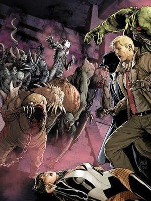 John Constantine and his allies face the evil forces of Blight in 'Justice League Dark.'