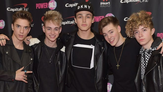 Why Don't We (from left, Daniel Seavey, Corbyn Besson, Jonah Marais, Zach Herron and Jack Avery) will perform Aug. 5 at the Indiana State Fair.
