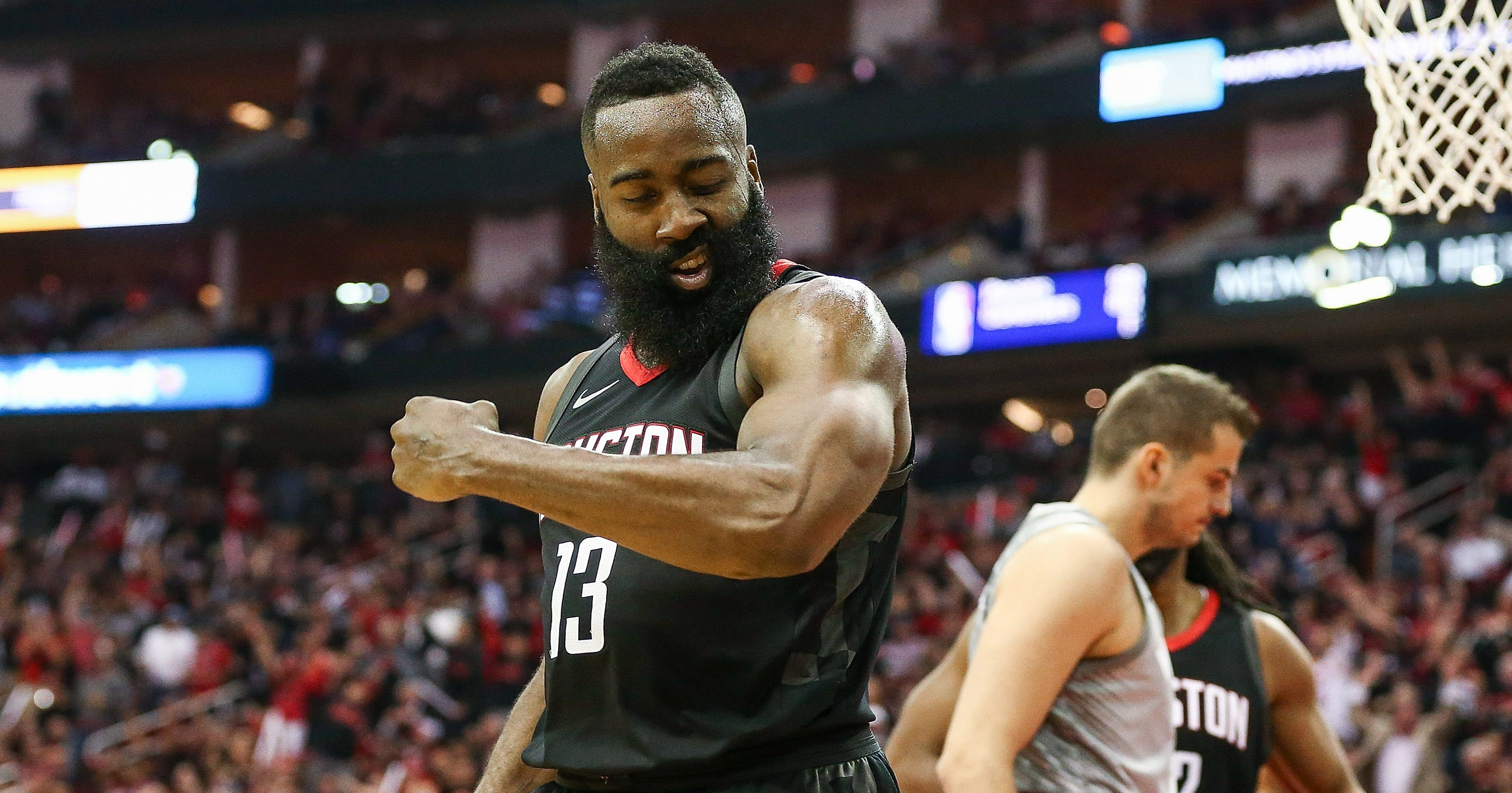 70e85e377838 James Harden s 44 points lifts Rockets past Timberwolves in Game 1