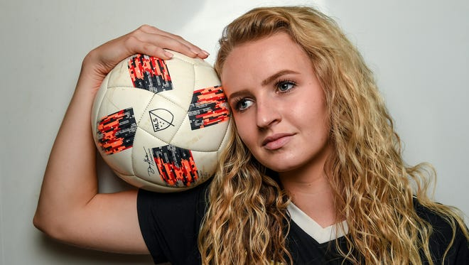 Maggie Black of Pendleton High School is the Independent Mail 2018 soccer All Area player of the year.