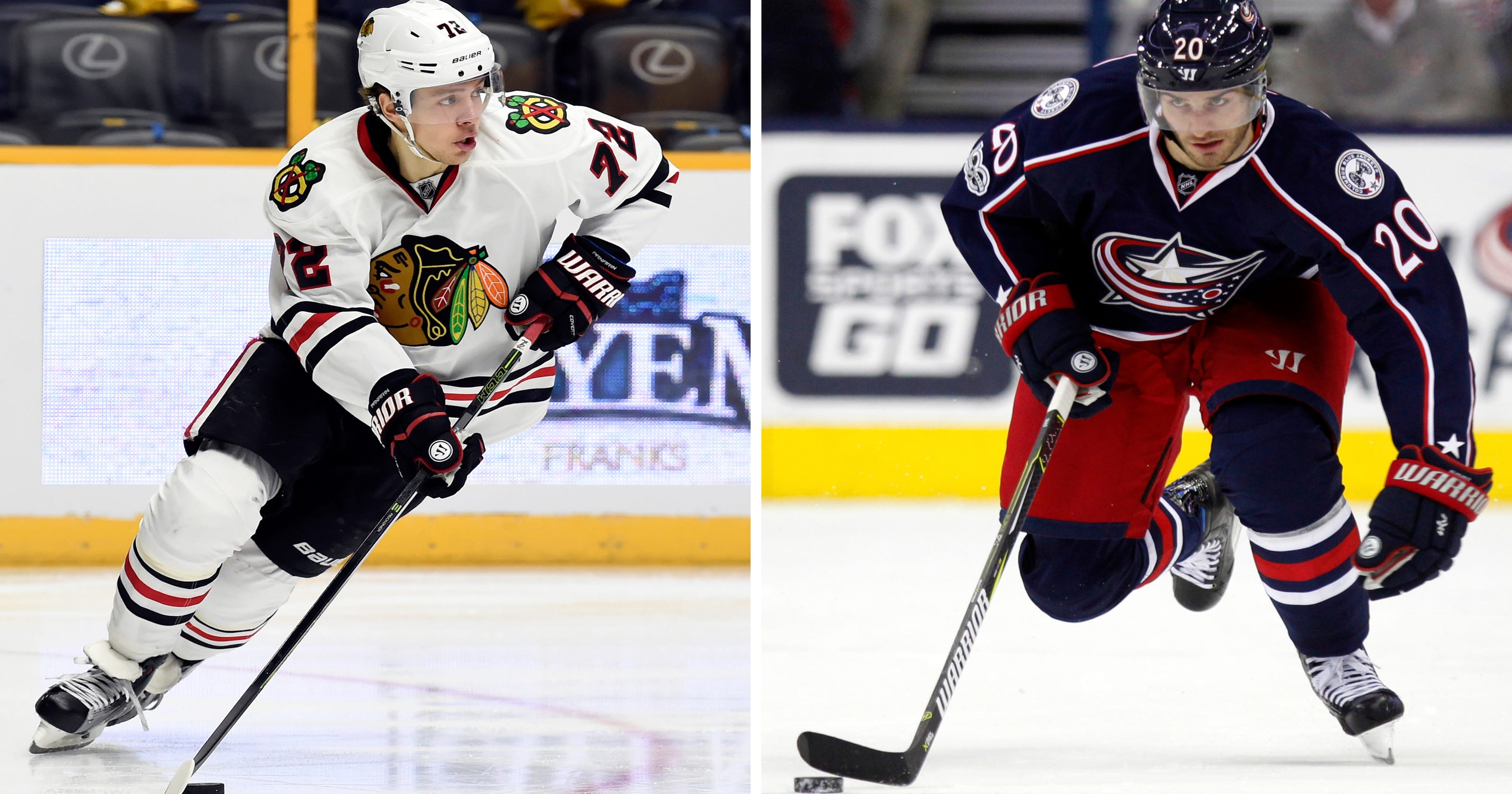 finest selection f3d04 6b817 Blackhawks deal Panarin and Hjalmarsson, get Saad back