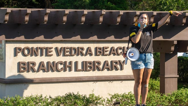 Ponte Vedra Beach resident Mia Cleary was one of the organizers of a Black Lives Matter demonstration on Thursday, June 18, 2020, in Ponte Vedra Beach.