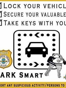"""County police advise residents to """"Park Smart."""""""