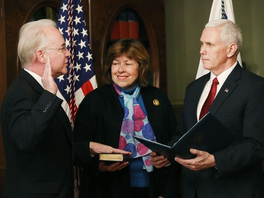 Vice President Pence swears in Price as Health and