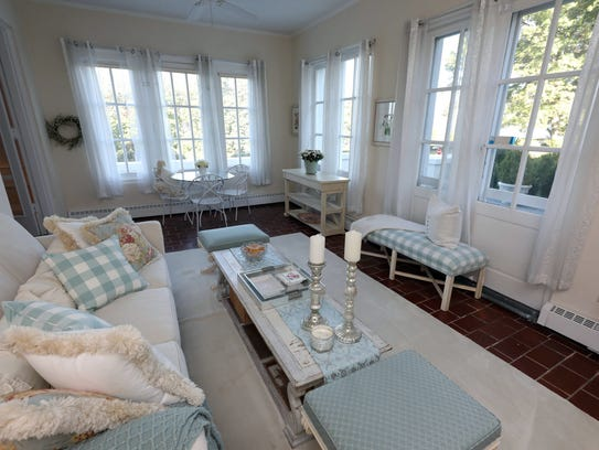 The enclosed porch in this home on the market, at 533