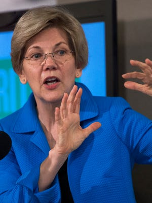 File photo taken in 2015 shows Sen. Elizabeth Warren, D-Mass., speaking at a Washingon, D.C. news conference during a hearing on income inequality.