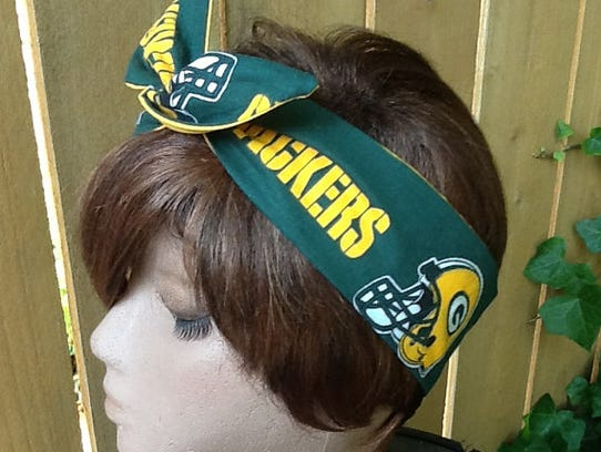 Packers Wired Dolly Hair Bow.
