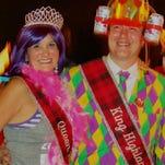 Shreveport City Councilman Sam Jenkins and wife Cynthia Hightower-Jenkins at Krewe Highland Coronation.