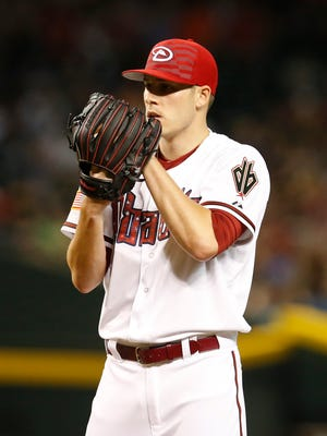 Arizona Diamondbacks pitcher Patrick Corbin throws in the first inning during a baseball game against the Colorado Rockies, Saturday, July 4, 2015, in Phoenix.