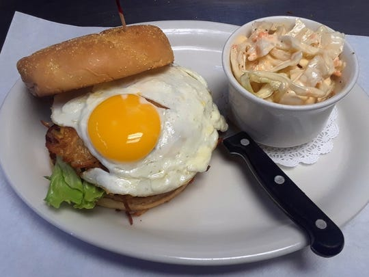Hart & Soul Cafe serves breakfast and lunch dishes including this brunch burger.