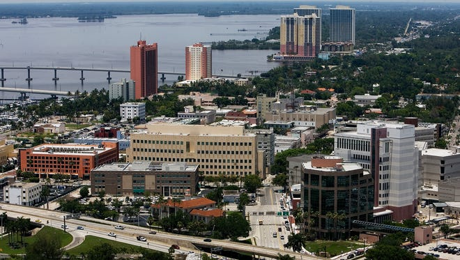 Downtown Fort Myers also known as The River District.