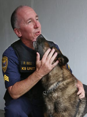 Tallahassee Police Sgt. David Bell and his K-9 partner Buster have been partners since 2010. Buster can't type, but his fictional counterpart, Copper, apparently can as the voice of TPD social-media posts recounting news-of-the-weird crimes.