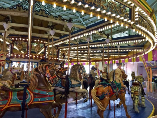 The historic carousel at Casino Pier in Seaside Heights was built in 1910.