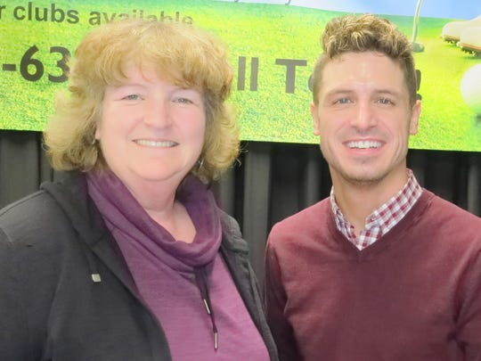 Deborah Divine and Adam Ferris, both of Redding, attend the Redding Health Expo on Jan. 7 at the Redding Civic Auditorium.