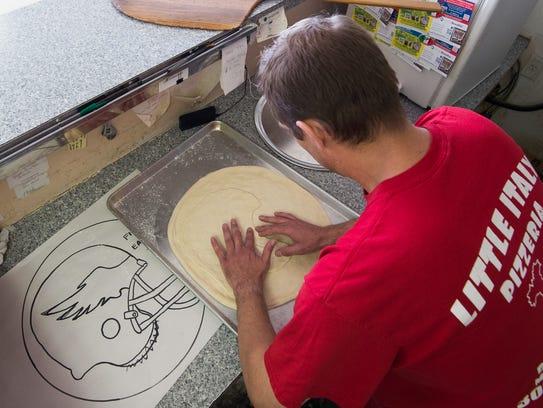 Pizza artist, Brian Clossen, creates a Philadelphia
