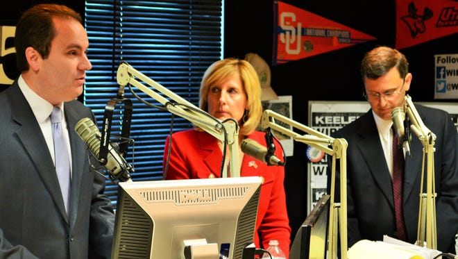 Republicans George Phillips (left to right) Claudia Tenney and Steve Wells debated Monday, June 13 on WIBX 950 AM. The three are running in a June 28 Republican primary in the 22nd Congressional District.