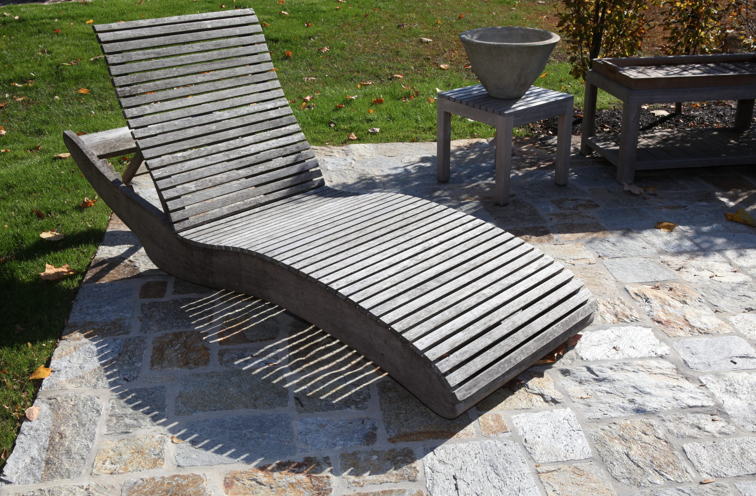 Natural Outdoor Teak Furniture On Display At One Of Several Terraces At  Munder Skiles,