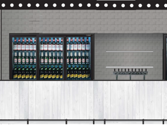 A rendering of a new Honky Hop Haus bar planned for