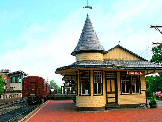 The train welcomes visitors to picturesqe New Hope,