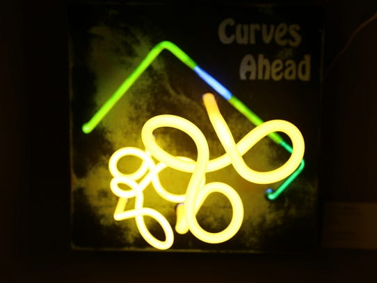 """Curves Ahead"" by Linda Sue Price of Lakewood, Calif.,"