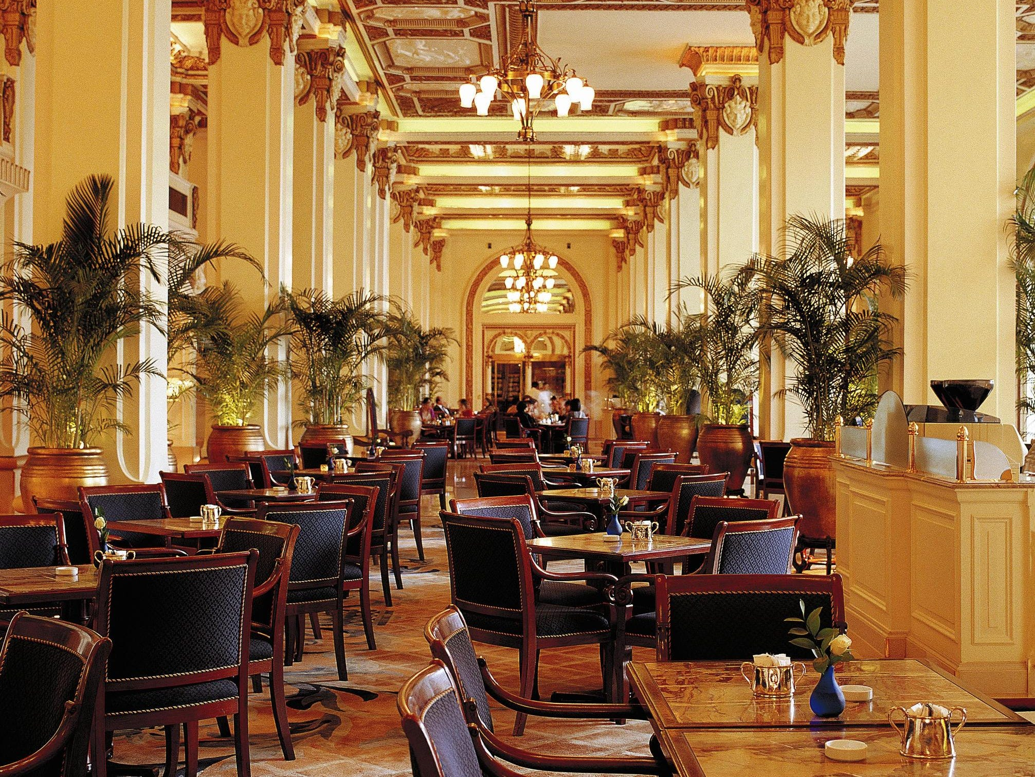 The Peninsula Hotel, Hong Kong, has a classic airy feel and has been drawing people to its lobby area since it opened 85 years ago.