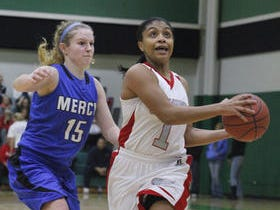 Princeton's Markayla Sherman in a 2012 game against Mercy.