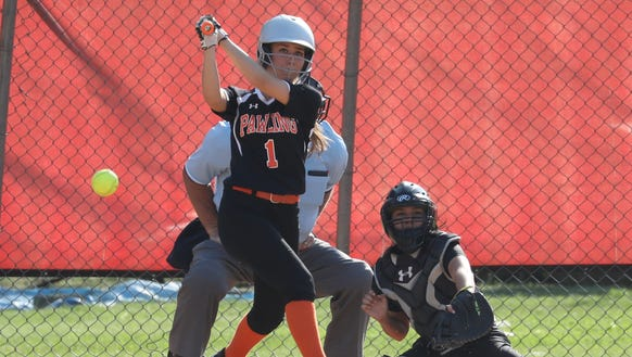 Pawling's Frankie Fleming drives in a run during the
