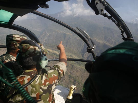The Nepalese army search for the-then missing U.S.