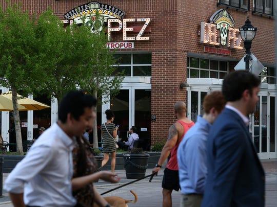 Popular restaurant Del Pez sits at the sometimes bustling