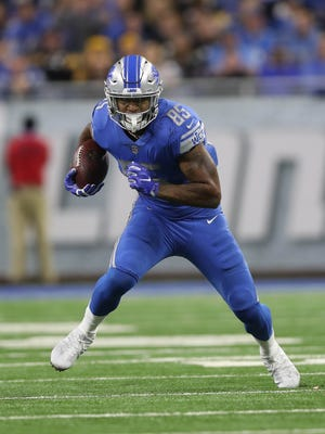 Eric Ebron drew both cheers and jeers at Ford Field on Sunday. His 44-yard reception late in the fourth quarter was a highlight, though the Lions lost to the Steelers, 20-15.