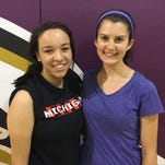 Plymouth Christian Academy senior co-captains Divna Roi (left) and Olivia Mady can't wait to pick up from where last season left off.