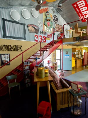 Provo's home is best described as industrial kitsch, and a number of items came from Purdue Salvage.