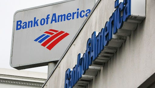 The Bank of America logo is displayed on the side of a Bank of America branch office January 20, 2010 in San Francisco, California.