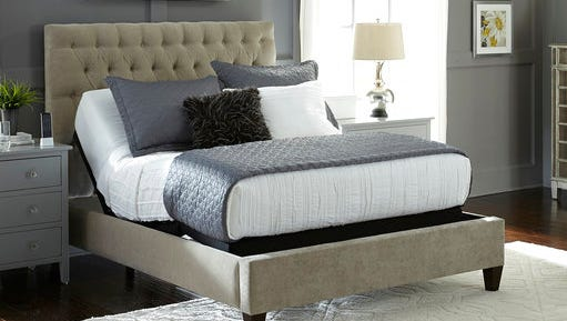 This photo provided by Leggett & Platt Adjustable Bed Group shows one of their adjustable beds.