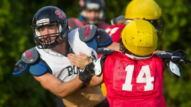 Senior Austin Fleming, part of a stout Rensselaer defense, already has 12 tackles for loss this season.