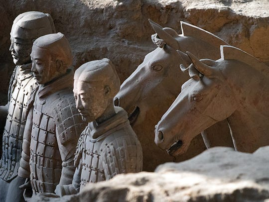 Terracotta Army figures in China