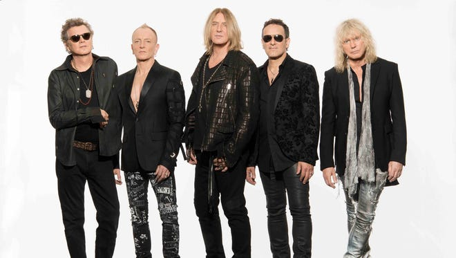 Def Leppard: Rick Allen, left, Phil Collen, Joe Elliott, Vivian Campbell and Rick Savage.