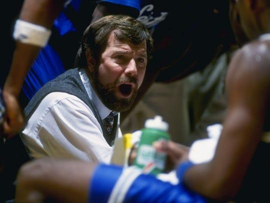 P.J. Carlesimo coaching Seton Hall in an undated photo.