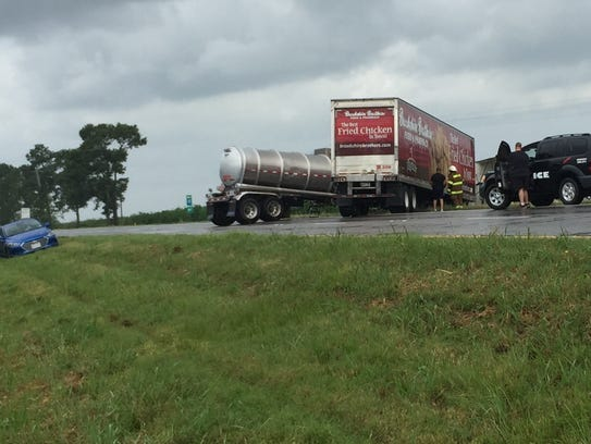 A crash involving two 18-wheelers shut down Interstate