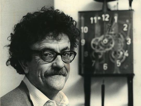 Novelist Kurt Vonnegut is shown in this 1972 photo