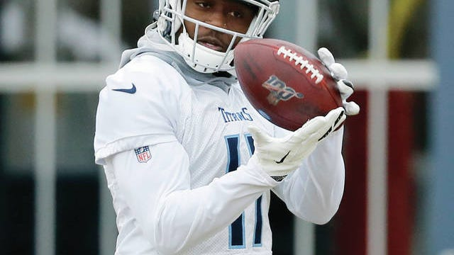With four red-zone touchdowns this season, rookie receiver A.J. Brown (11) is one of 13 Tennessee Titans to score from inside the opponent's 20-yard line this season. Still, the team's primary option in that area is NFL rushing champion Derrick Henry, who has 14 such touchdowns entering Sunday's AFC championship game at Kansas City.