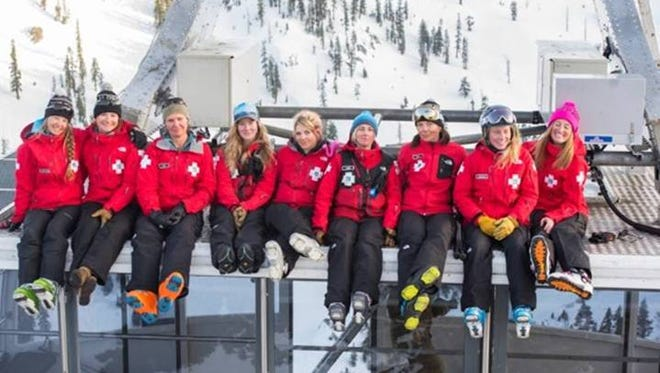 The Women of Squaw Valley Ski Patrol calendar features female ski patrollers in their element on the mountain.