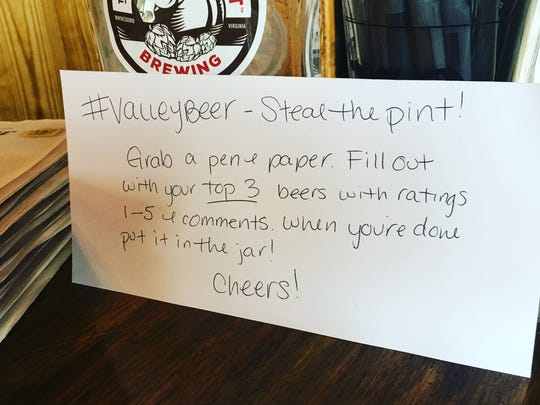Steal the pint participants were able to judge their top three beers during the event on July 8, 2016.
