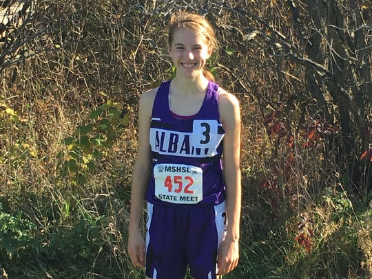 Albany eighth-grader Kristin Kalthoff is a member of