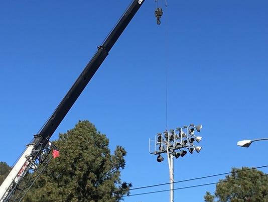 New stadium lights